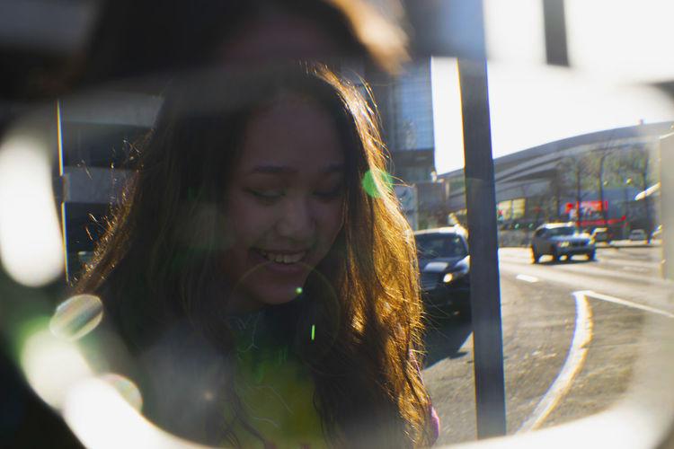 Edmonton Happy City Eyeglass Headshot Lens Flare Lifestyles One Person Outdoors Portrait Young Women