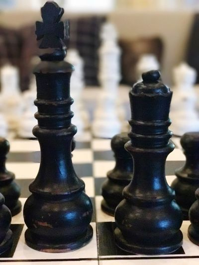 Chess Chess Piece Chess Board Strategy Leisure Games King - Chess Piece Knight - Chess Piece Pawn - Chess Piece Focus On Foreground Queen - Chess Piece Challenge No People Black Color Indoors  Competition Close-up Day