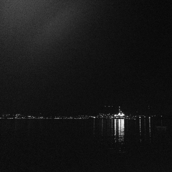 Trogir, CroatIa 2012 Croatia Trogir Nightphotography Night Monochrome Street Night Lights Black & White Black And White