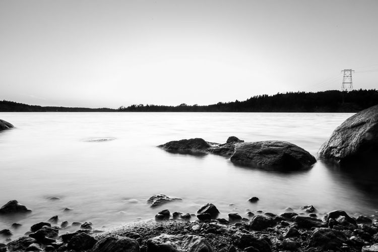 Calm Beauty In Nature Blackandwhite Calm Explore Idyllic Lake Landscape Longexposure Nature No People Outdoors Photography Relxing Rock Rocks Scenics Stockholm Sunset Sweden Tranquil Scene Tranquility Water