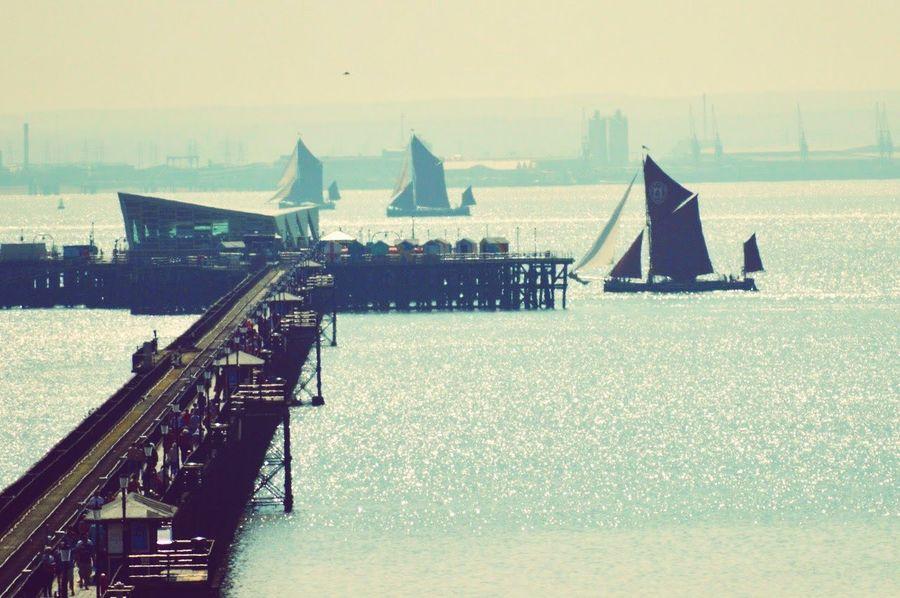 Sea Ship Nautical Vessel Water Sailing Ship Thames Barge Southend Pier Essex