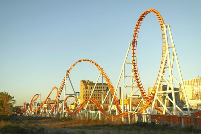 Rides Theme Park Roller Coaster Structures Curves
