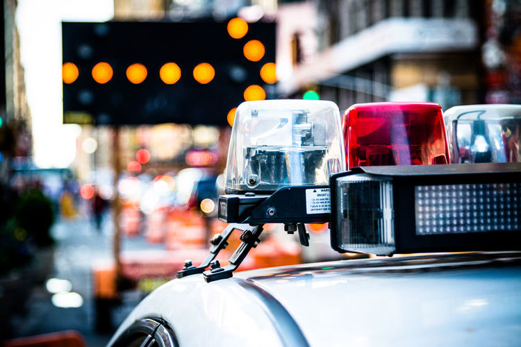 Car City City Life City View  Close Up Close-up Focus On Foreground Illuminated Land Vehicle New York New York City No People Outdoors Police Police Car Selective Focus Street Street Photography Streetphotography Transportation