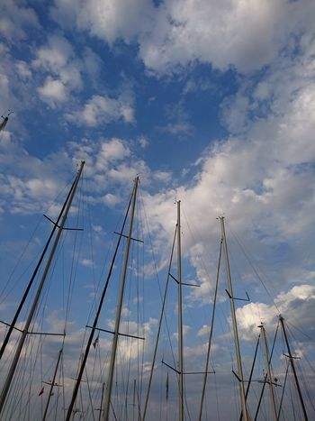 Cloud - Sky Sky Blue No People Nautical Vessel Day Silhouette Outdoors Nature Low Angle View Water