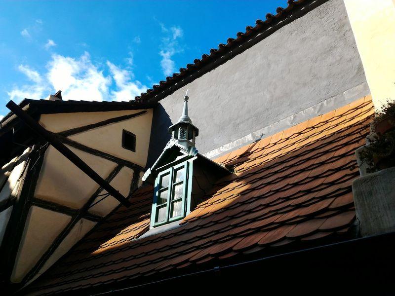 Prague Prague♡ Prague Czech Republic Prague Castle Praguecastle Golden Lane Window Roof Art Photography Sunlight Sunlight, Shades And Shadows