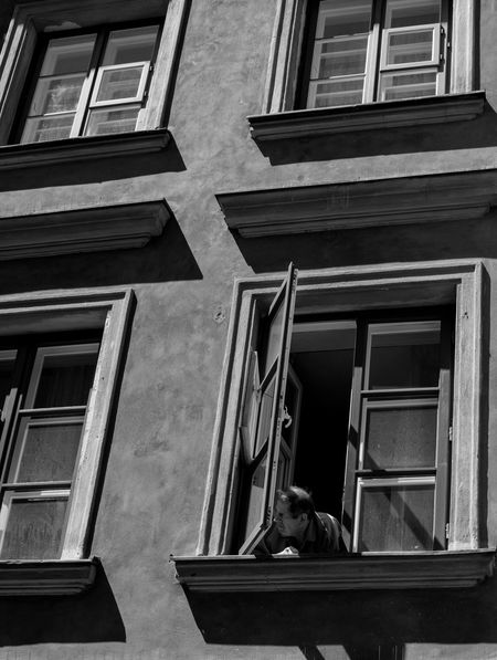 he was looking for some freedom Old Town Cities Of Europe Street Photography The Street Photographer - 2016 EyeEm Awards Canon Taking Photos Taking Photos Eye4photography  EyeEm Best Shots Open Edit Man Window People Watching Freedom The Portraitist - 2016 EyeEm Awards Streetphoto_bw EyeEm Best Shots - Black + White Blackandwhite Check This Out Hanging Out Showcase June
