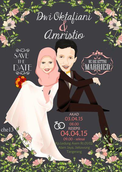 Vector Art Save The Date Wedding Graphic Design Illustrator Couple