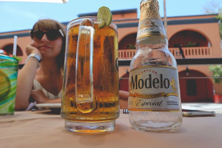 Drink Outdoors Real People Todos Santos Hotel California Beer Time City EyeEmNewHere The Week On EyeEm By Car Baja California Canon M10 Been There. Done That. Cerveza Especial ModeloEspecial