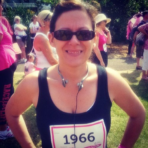 Just completed the Cancer Research UK 5km run in Worthing. Not quite a PB but it's been a very hot day. RaceForLife Cancerresearchuk Worthing