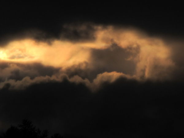 dramatic sunset with clouds 2014 Atmosphere Atmospheric Mood Cloud - Sky Cloudscape Cloudy Dramatic Sky Light Moody Sky Mystery Orange Color Outdoors Silhouette Sky Sunset Sunset With Clouds