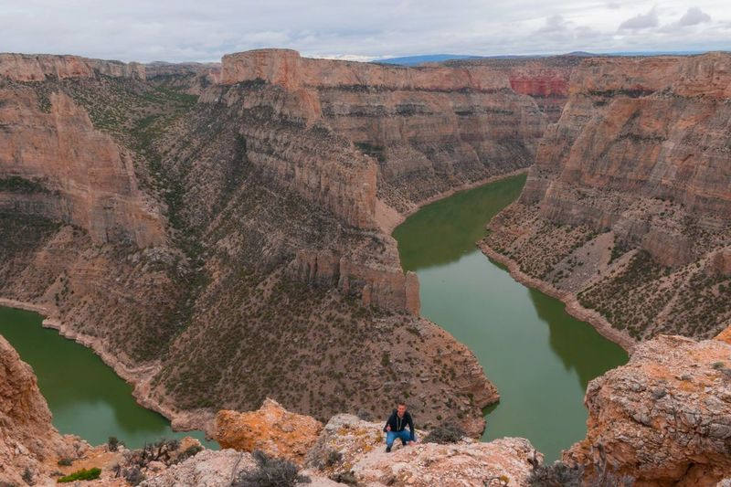 Beauty In Nature Bighorn Canyon Canyon Canyon Overlook Cliff Cliffs Devil Canyon Overlook Geology Green River High Angle View Landscape Mountain Nature Physical Geography River Rock - Object Rock Formation Scenics Sky Tourism Tranquil Scene Tranquility Travel Water Wyoming