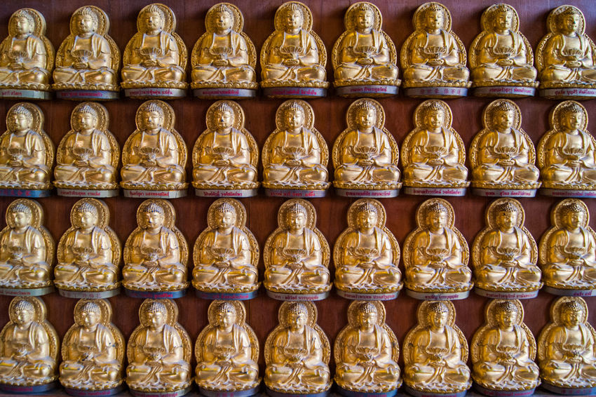 Chinese Close-up Cultures Day Food Full Frame Gold Colored Horizontal In A Row No People Outdoors Temple Chinese Tradition Traditional Travel