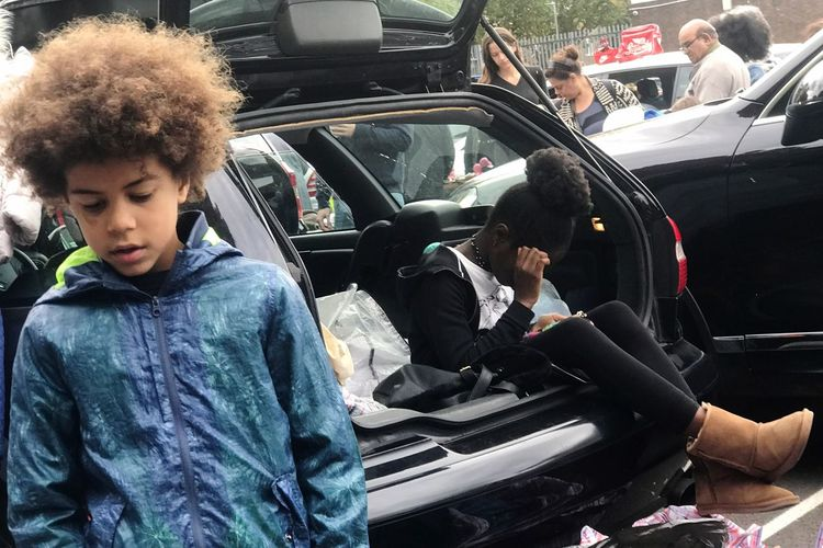 Battersea car boot sale Car Transportation Technology Car Interior Wireless Technology Day Young Women Women Lifestyles Young Adult Togetherness Men Outdoors Adult People London Car Boot Sale Battersea Car Boot Sale