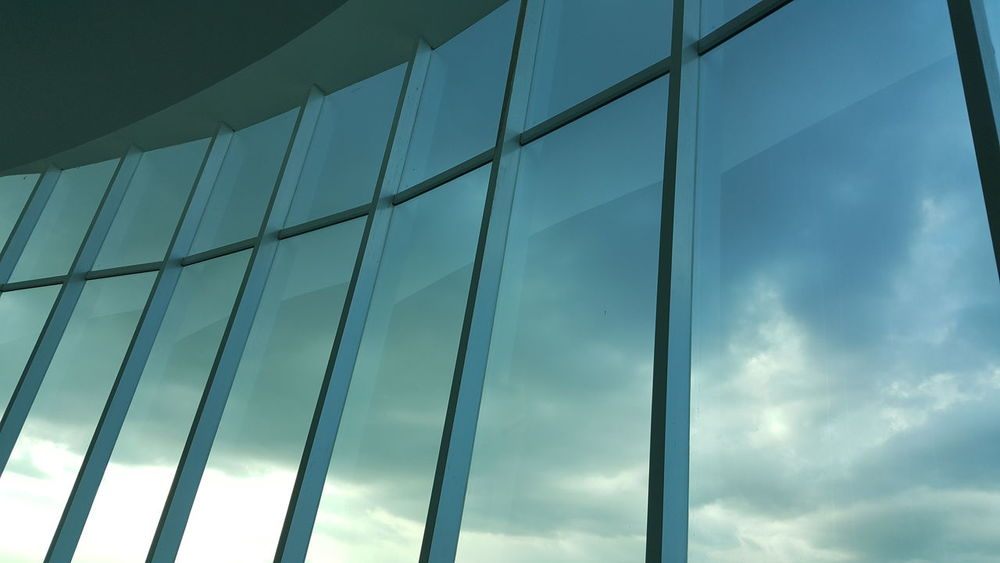 Glass Modern Window Sky Cloud - Sky No People Indoors  Architecture Futuristic Day Close-up NewEyeEmPhotographer