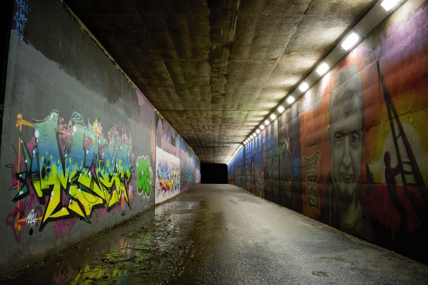 M1 Graffiti tunnel Graffiti Graffitiporn ArtWork Art Nightphotography Creativity Abandoned Cool Cool_capture_ Dynamic Perspective Low Angle View