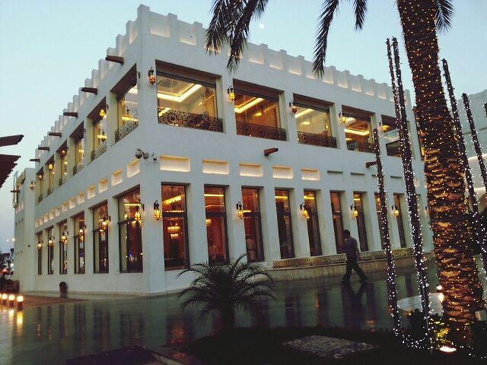 Urban Geometry Dinnerw/ my friends orienatal pearl doha qatar