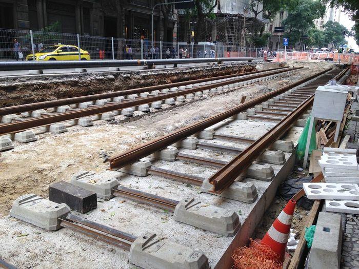 Obra do Vlt Veículo Leve Sobre Trilhos Avenida Rio Branco Centro Rio De Janeiro Under Construction...