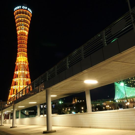 Kobe Port Tower Night Illuminated Architecture City Built Structure Travel Destinations Nightlife Cityscape Outdoors Business Finance And Industry Bridge - Man Made Structure Building Exterior Arts Culture And Entertainment Christmas Market Modern Skyscraper Kobe Kobe Port Tower Ferris Wheel Urban Skyline No People Premiere