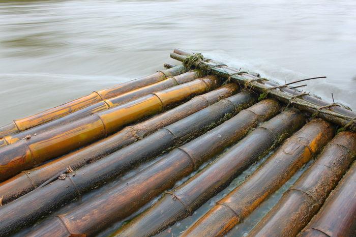 Bamboo raft Bamboo Bamboo Raft Outdoors Raft Relax Water Water Flow Wooden Raft
