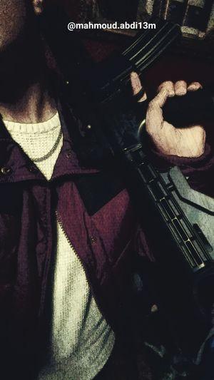 First Eyeem Photo 2015  My Kurdistan Flag  Selfie ✌ Kalashnikov