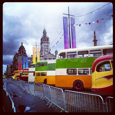 'Bus-ted' Georgesquare Glasgow  Scotland Buses Vintage bunting Cloudporn sky skyporn haggismunchers igscout igscotland igtube igaddict Igers igdaily Tagstagram most_deserving instagood instamob instagrammers PicOfTheDay bestoftheday Primeshots