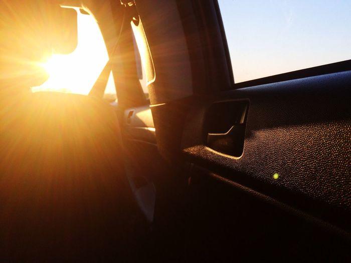 Sun Sunbeam Sunlight Bright Orange Trip Car Sunny Light Sky Drive Journey Love Yourself Summer Road Tripping
