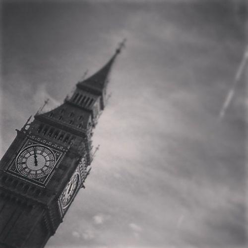 London Bigben Elizabethtower Clocktower Imissyou Blackandwhite B&W Portrait Shades Of Grey