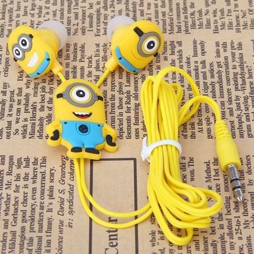 "My New Headphones with Mimions , Adore them !!!!!!.... They are very Funny and Cool :))... Listen to Music and Read a Book "" yes it's me "" ..."