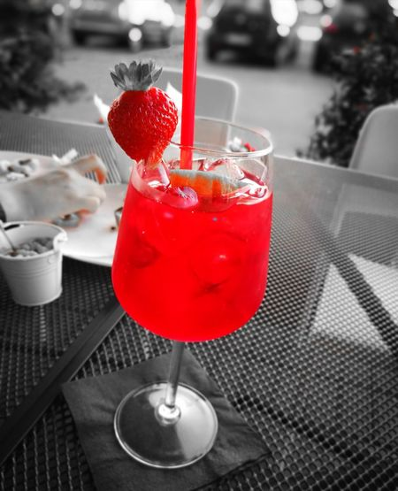 Cocktail Red Drink Drinking Glass Alcohol Refreshment Food And Drink Fruit Drinking Straw Freshness Martini Martini Glass Table Summer Ice Cube Close-up Healthy Eating No People Outdoors Food