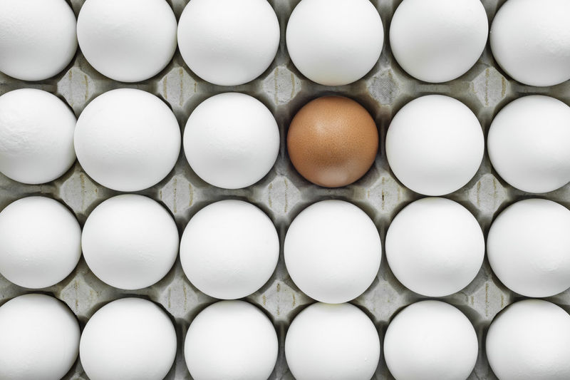 Group of ordered, identical chicken eggs where there is one different. This shows the uniqueness of individual contrasting with the mass Chicken Conceptual Art Individuality Background Chicken Egg Chicken Eggs Conceptual Contrast Different Different Is Better . ❤ Eggs Geometric Geometric Shape Group Group Of Objects Individualism Mass Package Unique Uniqueness Wallpaper