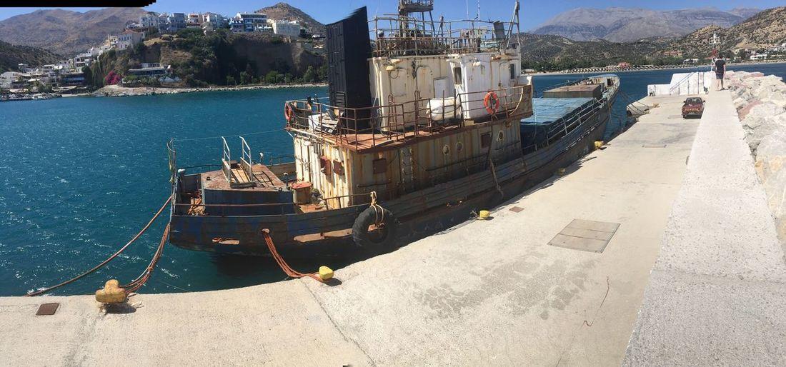 Agia Galini EyeEm Selects Water Nautical Vessel Transportation Mode Of Transportation Nature Sunlight