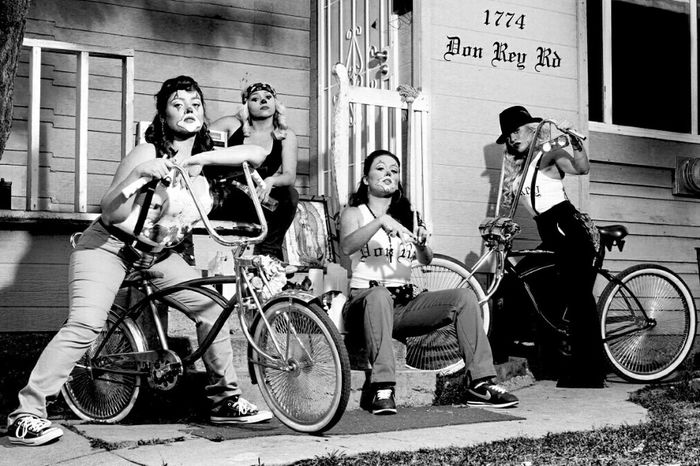 Chola shoot. .in East Los Angeles. .....old school ....hanging out with the cholas. ...photographer : Don Rey. .. Chola Modeling East Los Angeles Photoshoot
