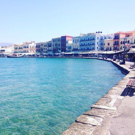 Water City Ocean Crete Vacation Greece Harbour Sun