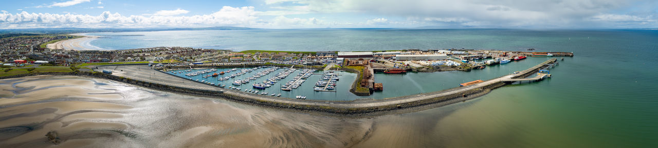 Troon Marina Lifeboat RNLI Ribs Yachts Marina Haven Yacht Troon Water Transportation Nautical Vessel Sea Mode Of Transportation Architecture Nature Cloud - Sky Aerial View High Angle View Harbor Building Exterior Built Structure Moored Sailboat Ship