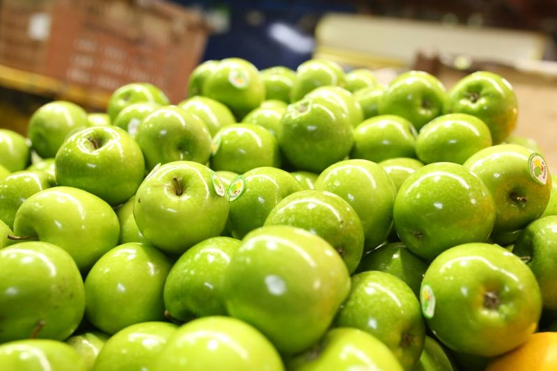 good for diet Diet & Fitness Green Apples  Granny Smith Apple Supermarket Healthy Eating No People
