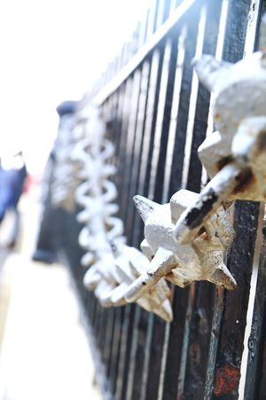 Depth Of Focus Warmth Of The Sun Chainlink Fence Gate Gate Way Of India Mumbai Winter Sun Outdoors