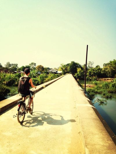Just riding my bike on the bridge of adventure. Traveling ASIA Beautifulworld
