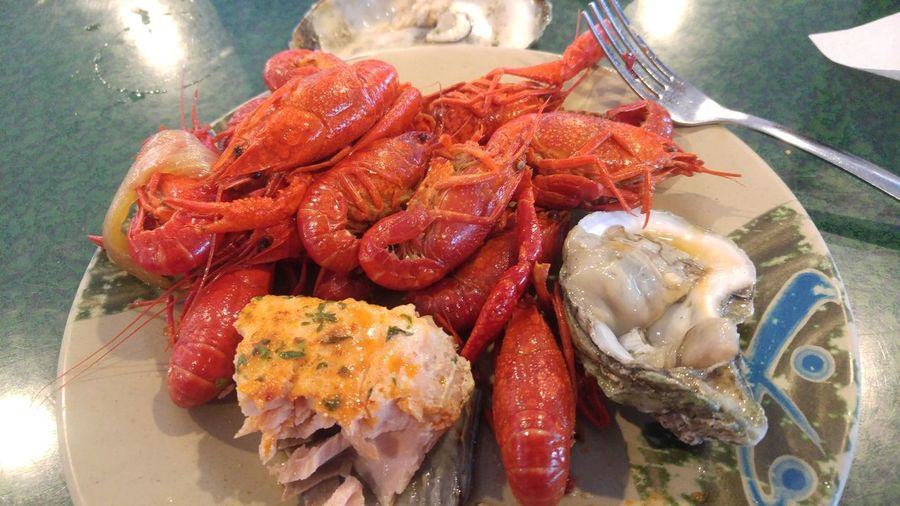 Crawfish On Deck  Seafood Close-up Food And Drink Prawn Crustacean Mussel Crab - Seafood Oyster