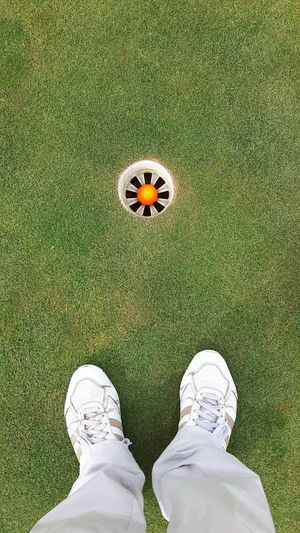 Golf Course Low Section Golf Sport Men Green - Golf Course Standing Shoe High Angle View Grass