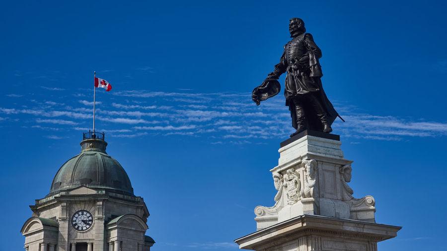 The Foundator City Quebec Statue The Week On EyeEm Blue Sky Canada Flag Quebec City