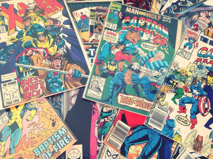 Box of treasures ❤️ Check This Out Comic Books Captain America Xmen The Hulk Silver Surfer Random
