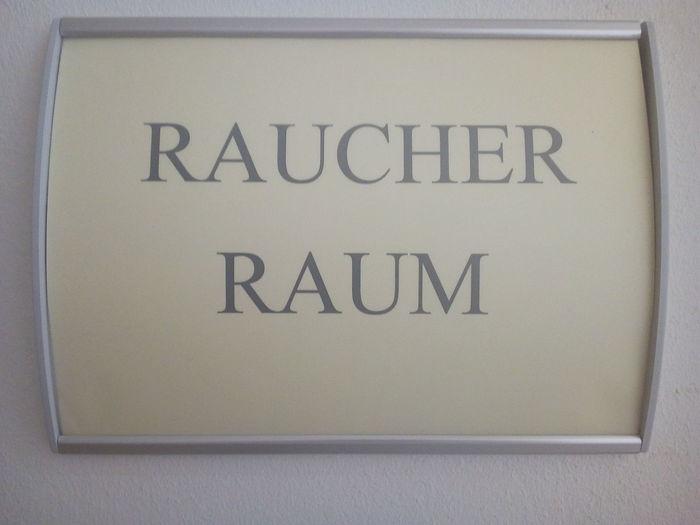 Sign Schild Raucherraum