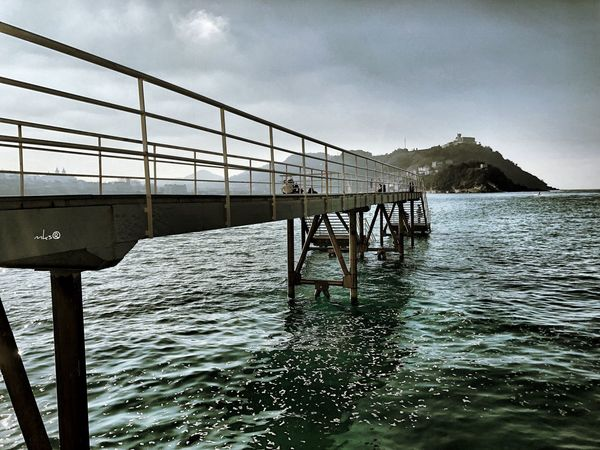 Bridge to the Relax Sansebastian EyeEm Best Shots Bestoftheday City Water Sky Sea Nature Mountain Outdoors No People Beauty In Nature Architecture Day