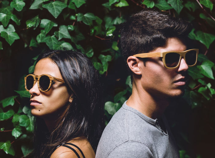 Fashion couple Couple Fashion Black Hair Casual Clothing Close-up Couple - Relationship Fashion Focus On Foreground Glasses Hairstyle Headshot Leisure Activity Lifestyles Man And Woman Outdoors People Portrait Real People Sunglasses Togetherness Two People Young Adult Young Men Young Women