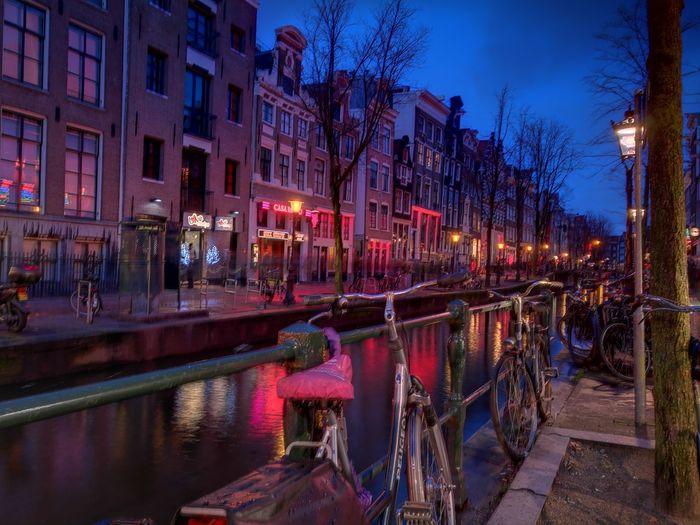 Reflection Illuminated City Sky Night RedLightDestrict Nightlife Neon Urban Skyline City Amsterdam Travelphotography Travel