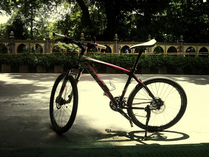 My Bike On_a_cycle_ride_wit_nirnal Fresh Air... Tired ????