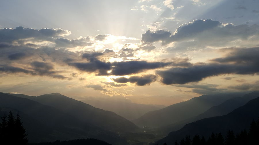 Breathing Space Mountain Morning Cloud - Sky Travel Nature Landscape Outdoors Hochkrimml Austria