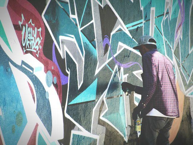 Getty Images Man Colorful Ladrillos Drawing Colors Graffiti Street Aerosol Art Getty & Eyeem Master_shots Bricks Hapiness