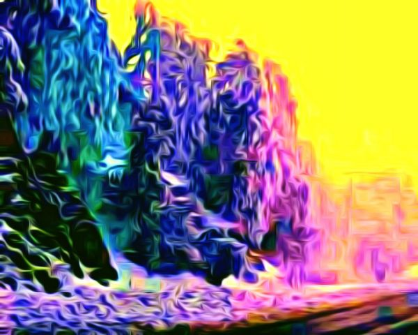 Snow ❄ Snow Multi Colored No People Out Of Order And Out Of Control Cartoon Effect  Cartoonish Color Explosion Colors and patterns