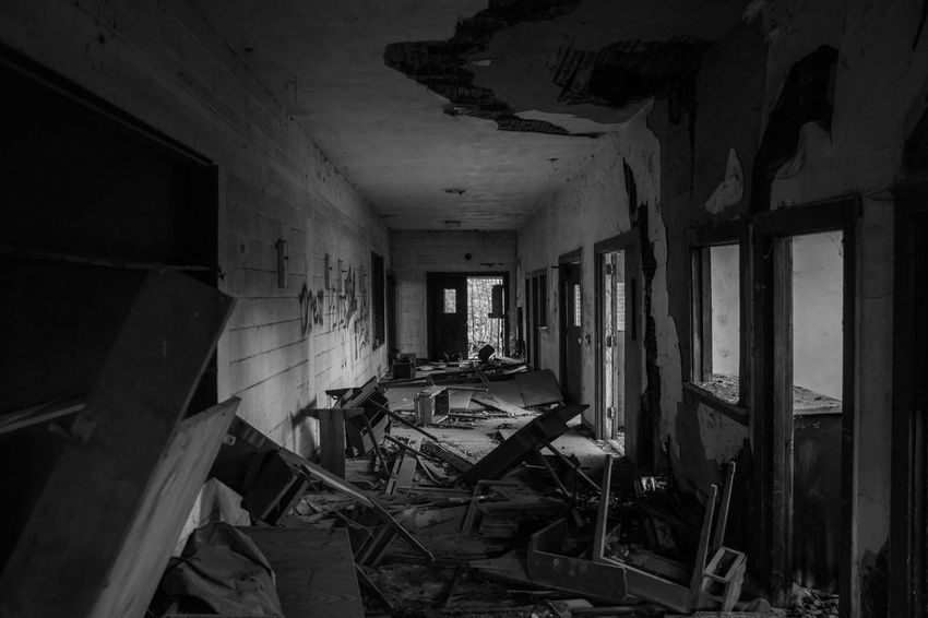 Old school Abandoned Damaged Bad Condition Obsolete Ruined Indoors  Destruction Deterioration Old Ruin Home Interior No People Architecture Decline Day